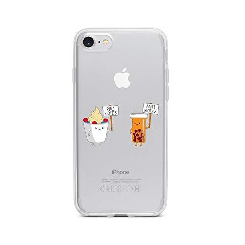 licaso iPhone 7 IP7 Handyhülle TPU mit PRO BIOTECS & Anti BIOTECS Print Motiv - Transparent Cover Schutz Hülle Aufdruck Lustig Funny Druck