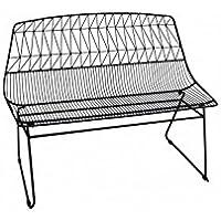 Preisvergleich für Socadis–Bank aus Metall schwarz Art-Eisen