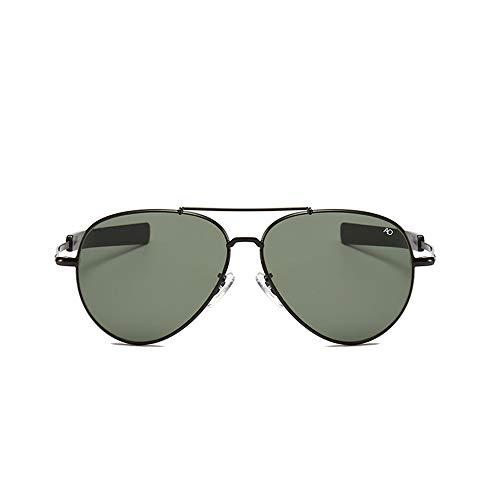 HUWAIYUNDONG Sonnenbrillen,Vintage Aviation Sunglasses Men American Army Military Optical Ao Sun Glasses Women Black-Gray