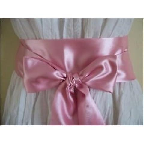 EDS 10-Fascia in raso con fiocco per decorazione sashes da più di 30 colori Ros apolvere - Organza Sash