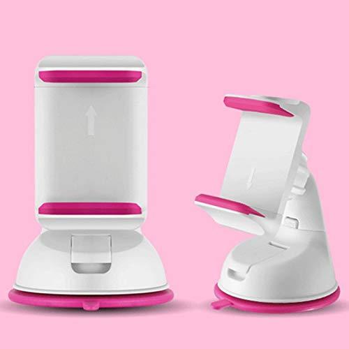 Dulaxie - Auto Sucker Telefon-Standplatz-Halter-Navigate-Kasten für iPhone 5S 6S Plus für Samsung Galaxy S5 S6-360 Sockel Windschutzscheibenhalterung [Rosa] (Samsung-galaxie-telefon-kästen 5s)
