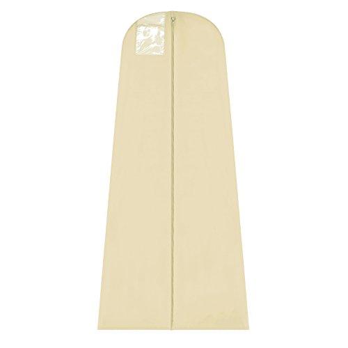 hoesh Atmungsaktive Hochzeit Brautschmuck Kleid Bezug 55,9cm × 81,3cm × 182,9cm + 25,4cm Full Zwickel cremefarben (Zwickel Kleidersack)