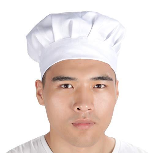 Zerama Adult Elastic Chef Hat Baker Grill Werkstatt Kantine Küche Restaurant Hotel Bäckerei Kellner Arbeits Cap (Kantine-set)