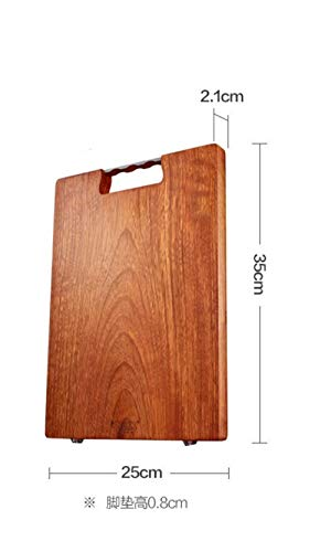 Rosewood Board (fuweizeng Chopping Board Cutting Board Rosewood Cutting Board Cutting Board Solid Wood Household Cutting Fruit Board Panel Stick Board Knife Cutting Board 35 * 25 * 2.1Cm)