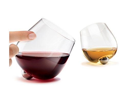 Einzigartige auslaufsicherem Spinning Aura Glas für Wein & Spirituosen (Set von 2)
