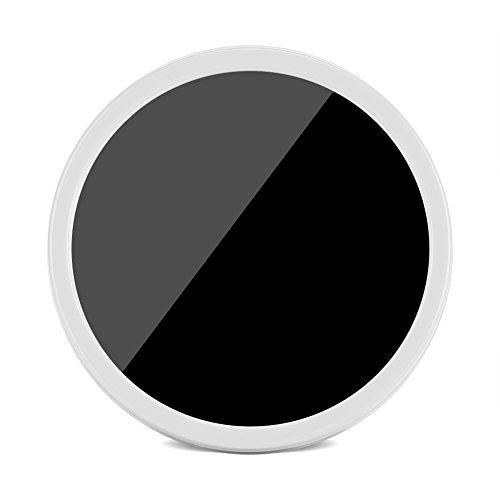 Fdit Mini Espejo Reloj Despertador Espejo Electrico