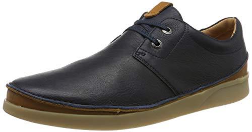 Clarks Herren Oakland Lace Derbys, Blau Navy Leather, 46 EU -