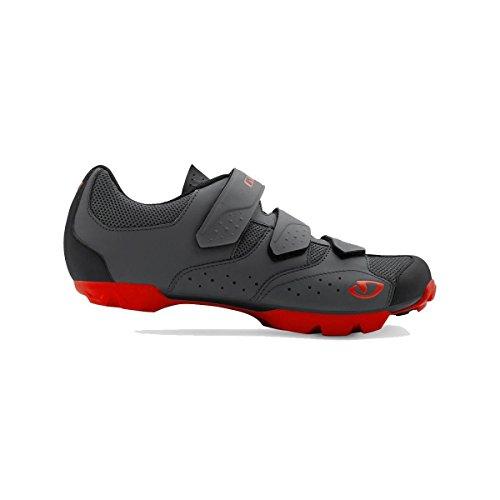 Giro Carbide R II MTB, Zapatos de Bicicleta de montaña para Hombre, (Dark Shadow/Red 000), 44.5 EU