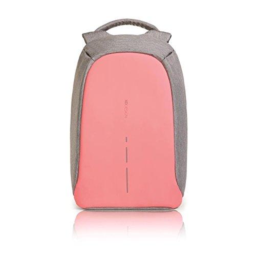 XD Design The Original Genuine Bobby Compact antifurto Zaino Anti Theft Backpack,Pink