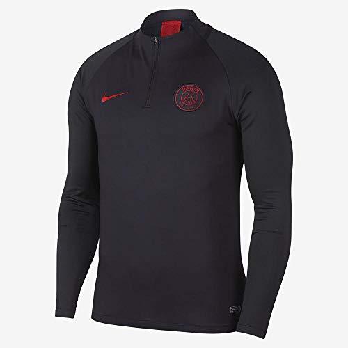 Nike PSG M NK Dry Strk Dril Top T-Shirt Homme, Gris/Rouge (Oil Grey/Oil Grey/University Red), XXL