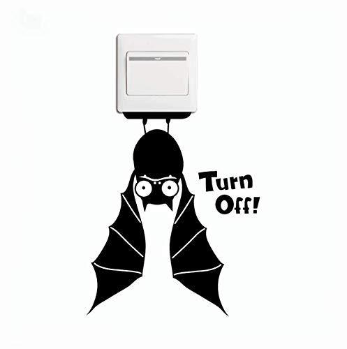 LAMEIDA Interruptor de Pegatinas Pegatinas de la Pared de Animal de electrocutado Pegatina Impermeable de Vinilo para Puerta y Ventana salón Dormitorio decoración (Bate)