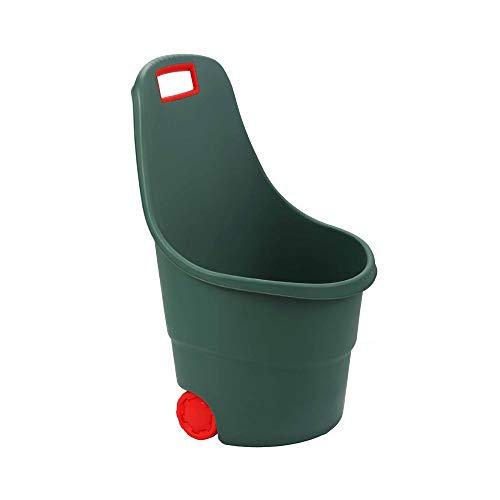 OSE Chariot de jardin en plastique 2 roues 45L