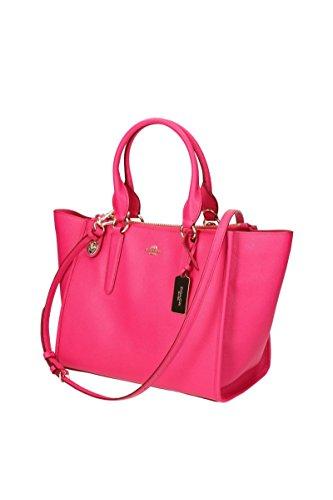 Coach - Borsa; Donna; Chiusura A Bottone; Tasca Anteriore E Posteriore Con Zip; Rosa Female Rosso