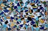 500g Bruchmosaik aus Fliesenbildern Muster1, ca. 50-70St.