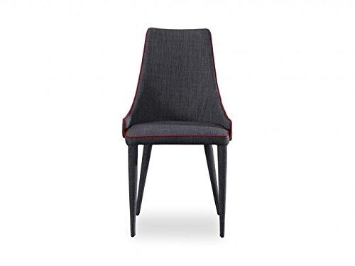 Curtis & Hayes Classic Dark Grey Sosa Dining Chair - Curved Solid Wood & Foam Chair