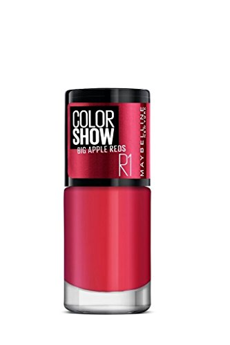 Maybelline New York Color Show Big Apple Nail Paint, The Town Red, 6ml