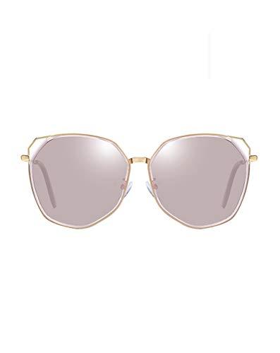 WWHLHL Polarisierte Sonnenbrille, Damenmode unregelmäßige Sonnenbrille, Block blaues Licht, Schutz der Augen, geeignet für Urlaub, Fahren (mehrere Farben),T73