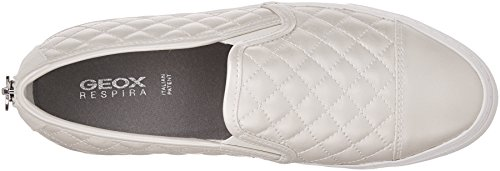 Geox  D New Club C, Sneakers Basses femme Blanc (Whitec1001)
