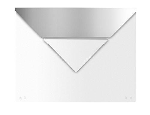 frabox Design Briefkasten EVERE Weiss/Edelstahl, ohne Zeitungsfach