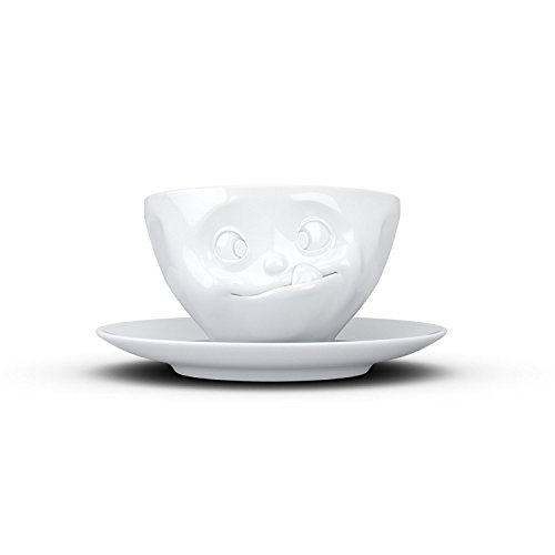 FIFTYEIGHT PRODUCTS FiftyEight T014601 Kaffeetasse, Porzellan, Weiß, 13 x 13 x 7.3 cm