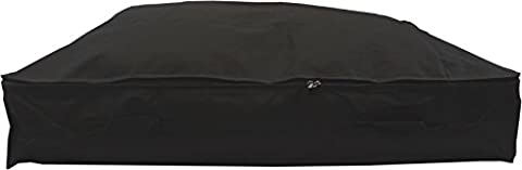 Stupidly Useful Underbed Storage Bag – Heavy Duty - Strong 600D Polyester Material With 4x Web Reinforced Handles - For Clothes, Duvets & Bedding - Alternative to Blanket Box (XL 140 Litres, Black)