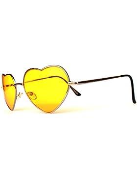 Herz Herzen Herzchen Love Sonnenbrille Hochzeit Hochzeitsdeko Hochzeitsbrille Sommerbrille Sonnenbrillen mit UV...