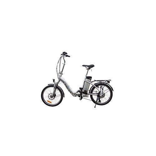 Elektrofahrrad-36V-Pedelec-Klappfahrrad-Faltrad-Silber