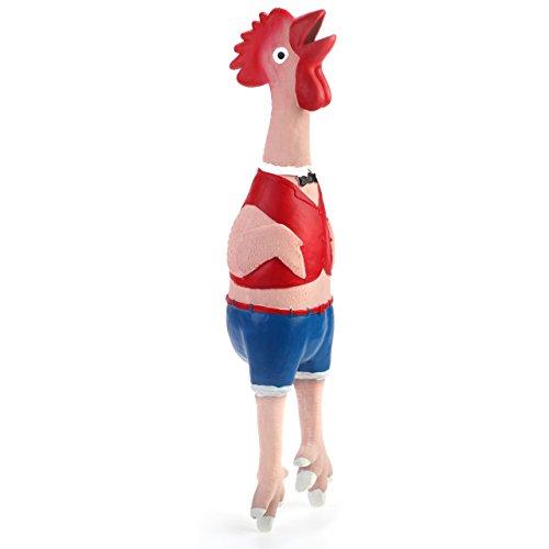 Chiwava 42cm Quietscher Latex Hundespielzeug schrillen schreiend Huhn Kellner Geflügel Spielzeug Welpen Interaktives Spielen
