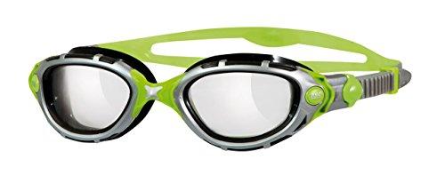 Zoggs Schwimmbrille Predator Flex Reactor Titanium, Silver / Green, One Size, 311846