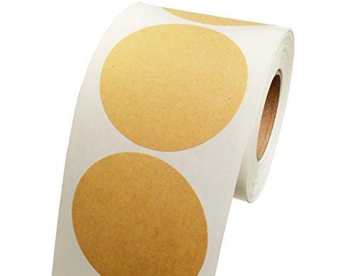 Smart Aufkleber 500braun Natural Kraft Papier Dot Aufkleber 5,1cm rund Kreis Farbe Codierung Etiketten