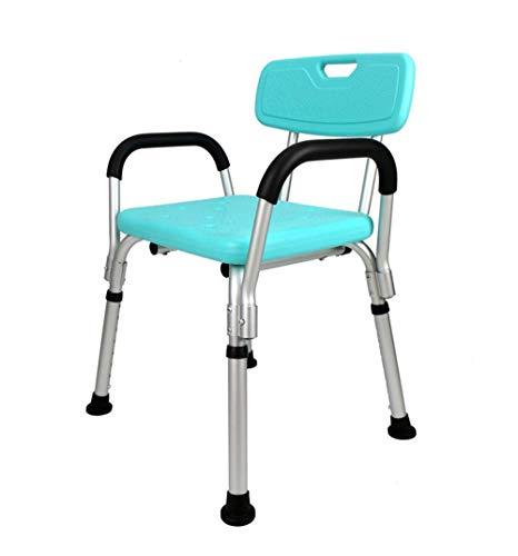 XUE Hochleistungs-Duschstuhl mit Rückenlehne und Armlehnen für behinderte Senioren und ältere Menschen Verstellbare medizinische Badesitzgriffe rutschfeste Wannensicherheit