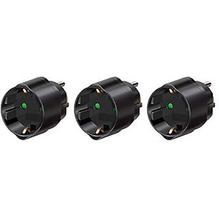 3 Stück Brennenstuhl Reisestecker/-adapter Schutzkontakt für USA, Japan schwarz, 1508550 (3, Adapter Japan & USA)