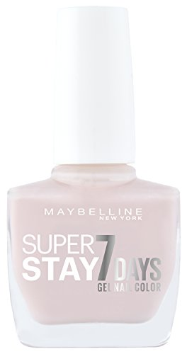 Maybelline New York Make-Up Super Stay Nailpolish Forever Strong 7 Days Finish Gel Nagellack Pink Whisper / Farblack mit ultra starkem Halt ohne UV Lampe in kräftigem Rosa, 1 x 10 ml (Make-up Forever Uv)