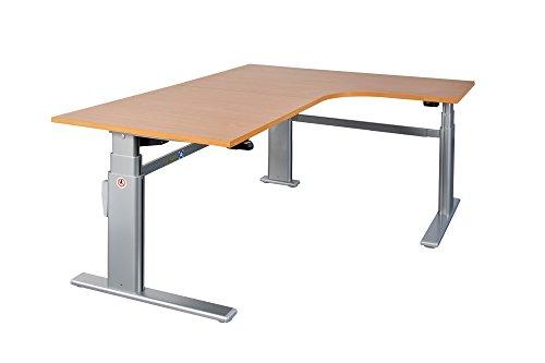 Schreibtisch Winkelschreibtisch Eckschreibtisch elektrisch höhenverstellbar Bürotisch Büromöbel Arbeitstisch Workstation (Wenge)