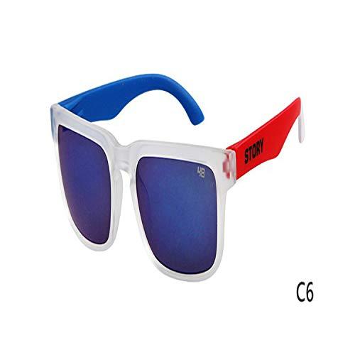Golfbrille,Classic Hot Sales Sunglasses STORY Brand Design Fashion Women Men Sunglasses Star Style Sun Glasses Outside Eyewares UV 400 C6 ()