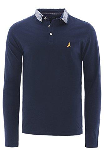 Brave Soul Herren Slim Poloshirt grau grau Small Navy - Blue