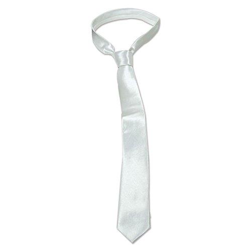 Bristol Novelty ba1075Skinny Krawatte, weiß, One Size (Mafia Kostüm Weiblich)