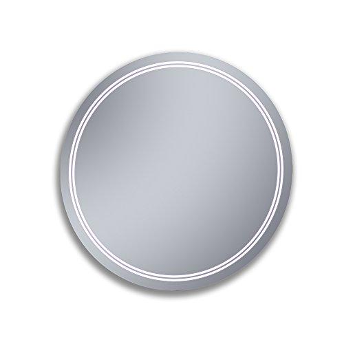 Kristaled Duarte 80 cm diametro Espejo Baño Estriado