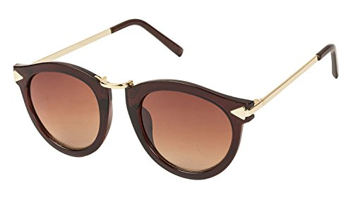 Vespl Designer Brown color metal frame cat eye women Sunglasses-V-6221
