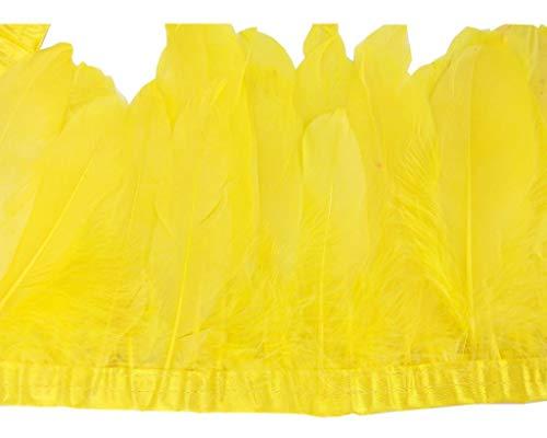 ERGEOB Ente Feder Stoffstreifen 2 Meter - Ideen für die Bekleidung, Kostüme, Hüte. gelb (Gelb Hut Kostüm)