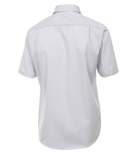 CASAMODA Herren Businesshemd Silber