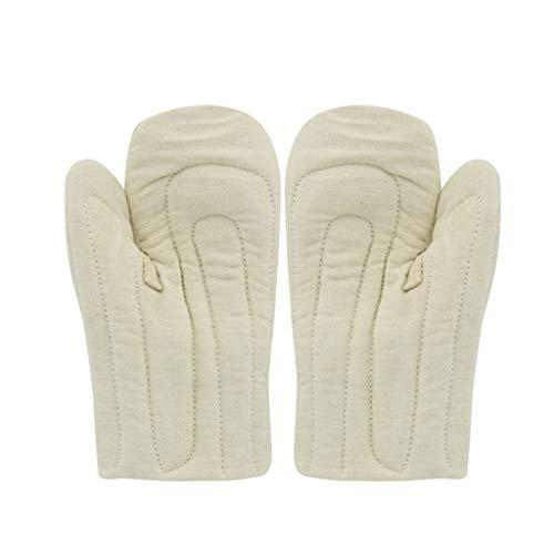 NJ Handschuh- Hochtemperaturhandschuhe verdickte isolierte Handschuhe (Farbe : Beige, größe : 27.5x15.5cm)