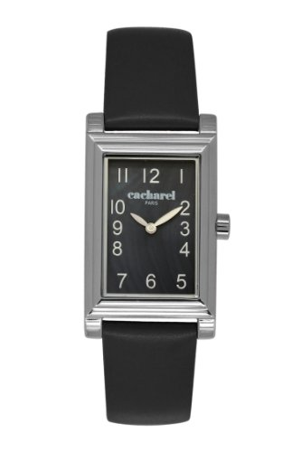 cacharel-cld-aa-007-womens-quartz-analogue-watch-black-face-black-leather-strap