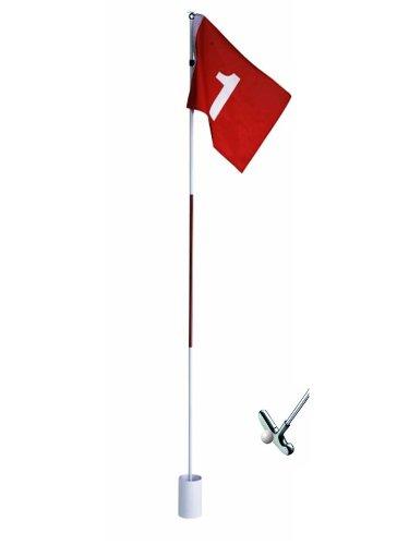 CEBEGO Komplettset Golfloch, Golffahne,Putter,Golfball/Golftraining Zuhause COMPLETE,Golfgeschenke Golfzubehör Golfschläger Training Indoor Outdoor,Put-Training
