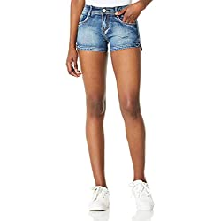 DEMON&HUNTER 601 Shorts Series Mujer Pantalones Vaqueros Cortos Jeans DH6001(25)