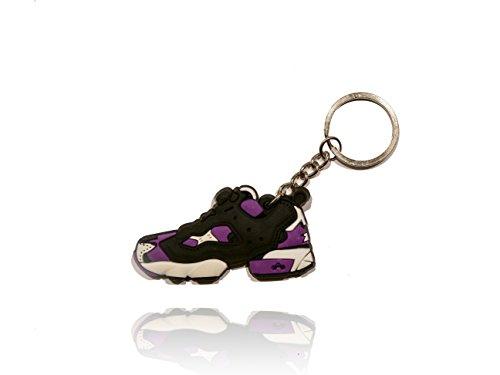 ProProCo Sneaker Schlüsselanhänger Reebok Instapump Fury Lila und weiß Schuh Schlüsselanhänger in Senfgelb Schuh Fashion für Sneakerheads,hypebeasts und alle Keyholder NB