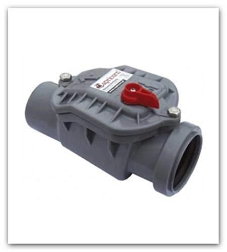 Valvola antiritorno-(ratti Top) DN 50con serratura di bloccaggio per tubo HT (grigio)