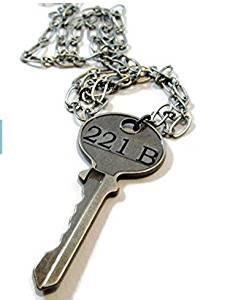 221B Schlüssel Halskette, Sherlock Holmes Schlüssel Halskette (Halskette Sherlock)