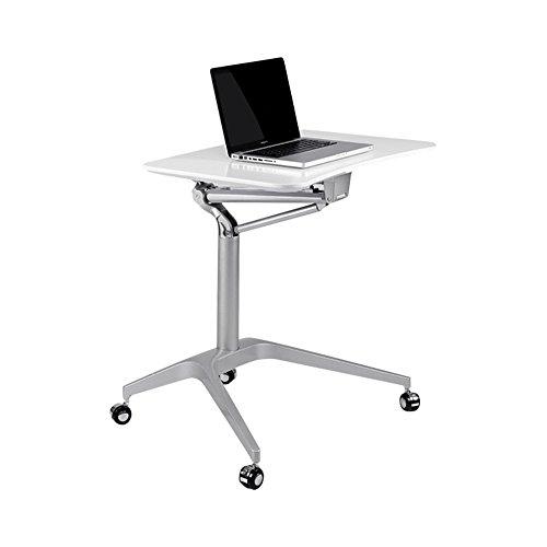 Schreibtisch Kirsche Stuhl (GWF Mobiler Höhenverstellbarer Stehender Laptop-Schreibtisch; 71,5 cm breit, Kirsche (Farbe : Weiß))