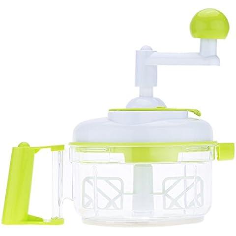 Anself Picadora de verduras de mano multifuncional helicóptero manual de hortalizas alimentos para ensalada cacedor rebanador de frutas cebolla ajo ensalada de col